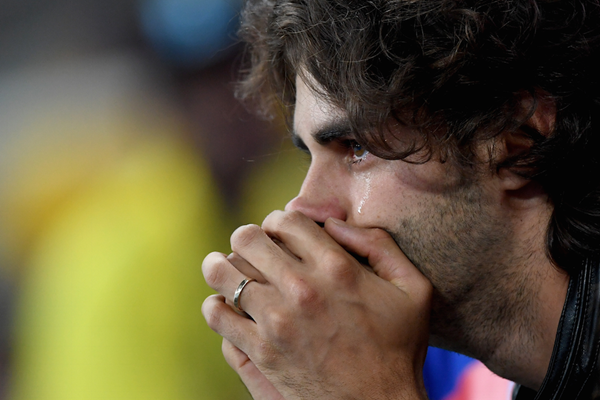 Injury forced Gianmarco Tamberi to watch the Olympics from the stands ()