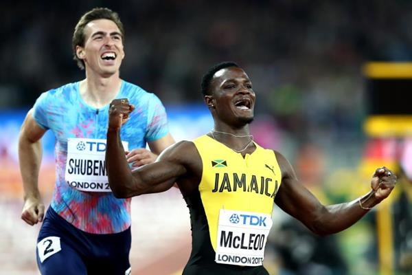 Omar McLeod and Sergey Shubenkov - 1-2 in the 110m hurdles at the IAAF World Championships London 2017 (Getty Images)