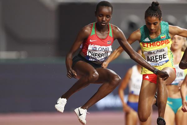 Celliphine Chespol at the IAAF World Athletics Championships Doha 2019 (Getty Images)