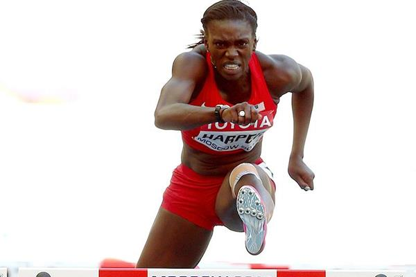 Dawn Harper Nelson in the 100m hurdles at the IAAF World Championships (Getty Images)