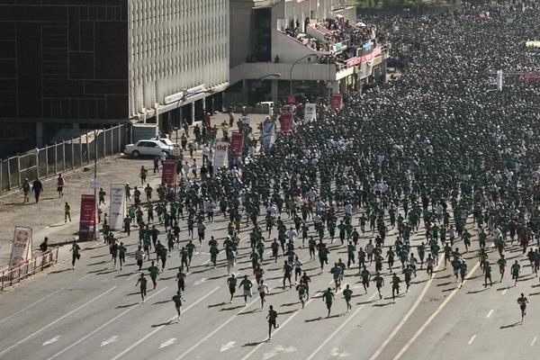 Participants in the Great Ethiopian Run (Getty Images / AFP)
