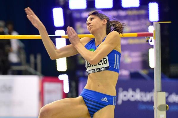 Mirela Demireva jumps to victory in Karlsruhe (Jiro Mochizuki for the IAAF)