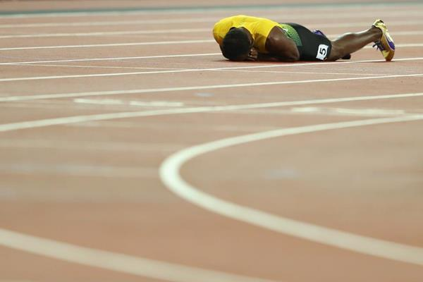 Usain Bolt in the 4x100m at the IAAF World Championships London 2017 (Getty Images)