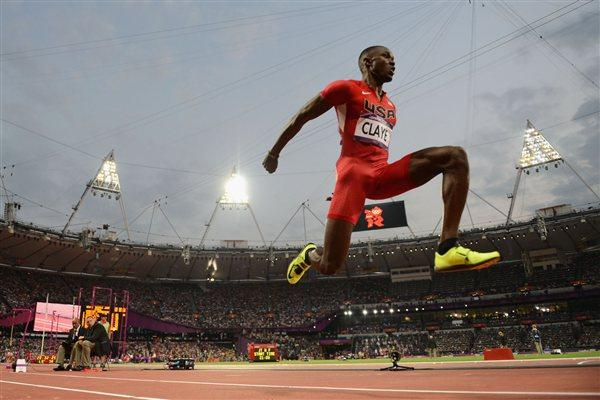 Will Claye of the United States competes during the Men's Triple Jump Final of the London 2012 Olympic Games on August 9, 2012 (Getty Images)