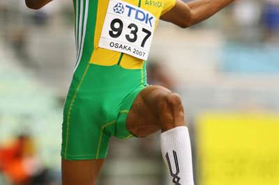 Godfrey Khotso Mokoena of South African in the men's Long Jump (Getty Images)