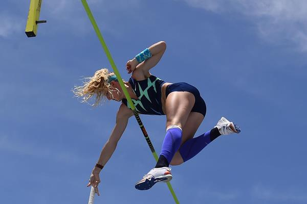 Sandi Morris at the Inspiration Games (AFP/Getty Images)