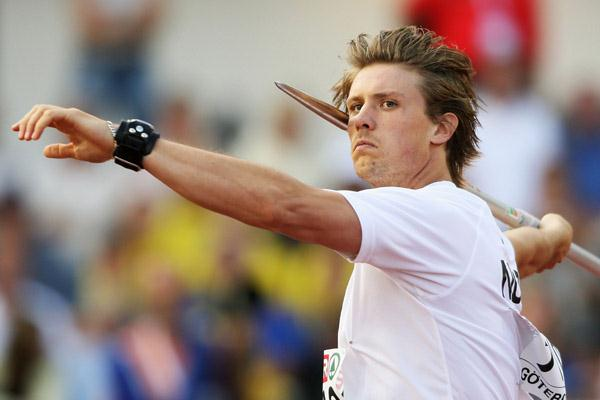 Andreas Thorkildsen in qualifying in Gothenburg (Getty Images)