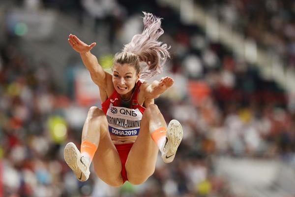 Belarusian long jumper Nastassia Mironchyk-Ivanova (Getty Images)