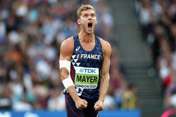 Kevin Mayer in the decathlon javelin at the IAAF World Championships London 2017 (Getty Images)