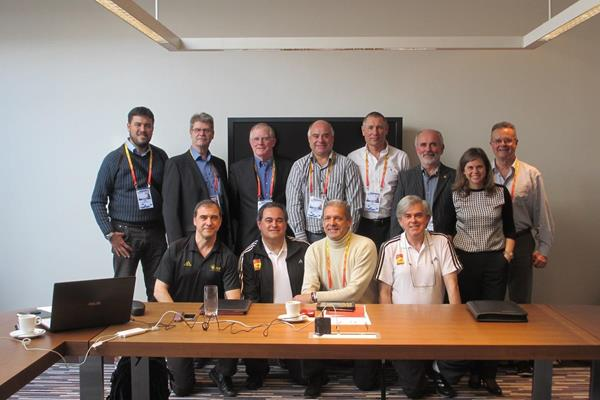 The IAAF International Starters Panel and members of the European Starters Panel at Sopot 2014  (IAAF)