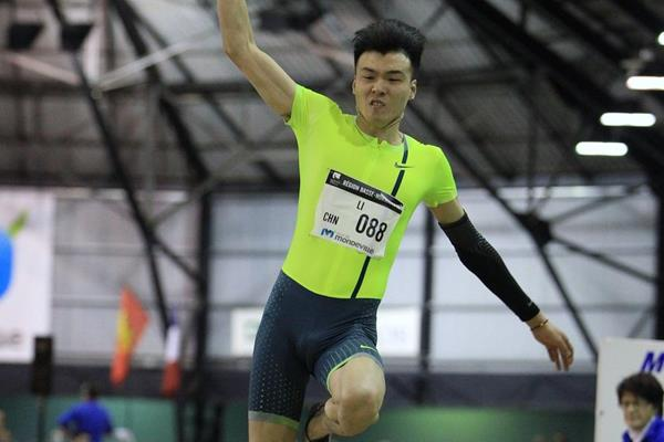 Li Jinzhe at the 2015 Meeting D'Athletisme Mondeville (Jean-Pierre Durand)