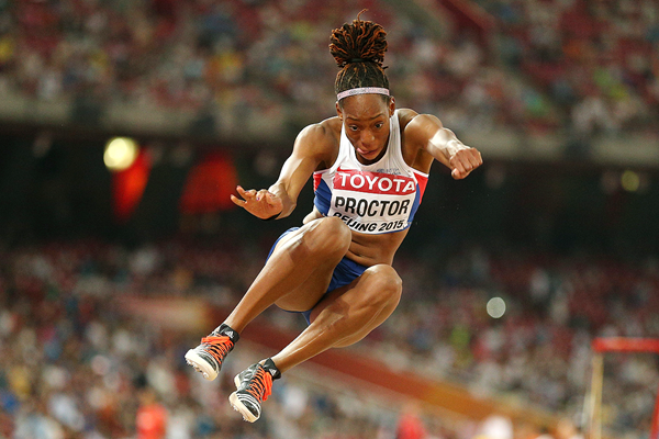 Shara Proctor in the long jump at the IAAF World Championships Beijing 2015 (Getty Images)