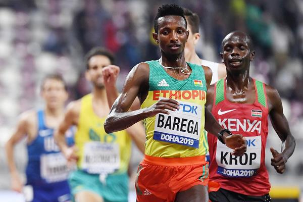 Selemon Barega in the 5000m at the IAAF World Athletics Championships Doha 2019 (AFP / Getty Images)