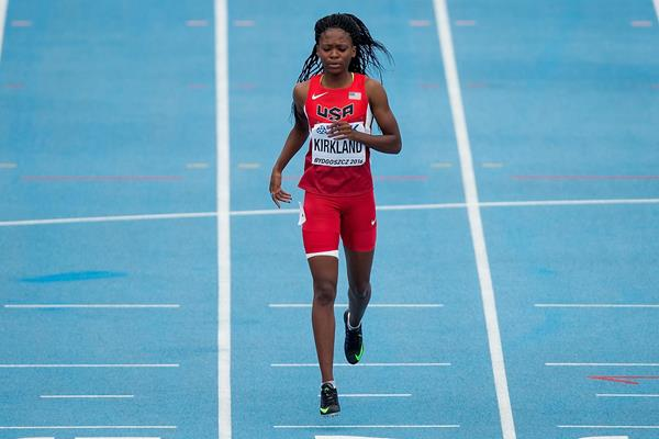 Jayla Kirkland in the 200m at the IAAF World U20 Championships Bydgoszcz 2016 (Getty Images)