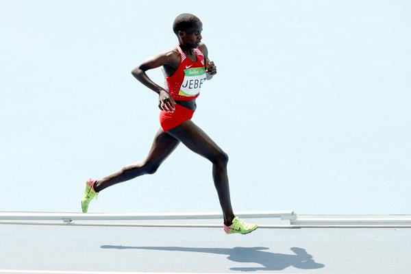 Ruth Jebet in the 3000m steeplechase at the Rio 2016 Olympic Games (Getty Images)