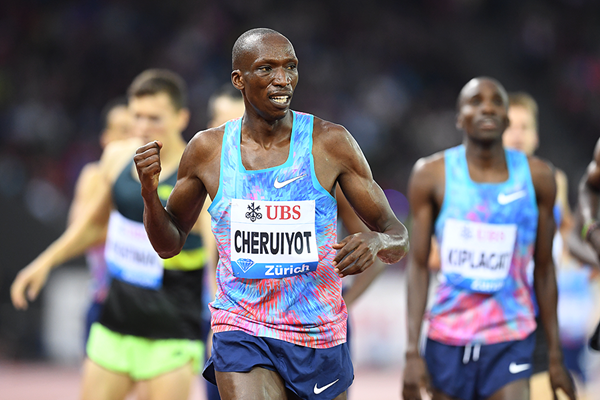 Timothy Cheruiyot wins the 1500m at the IAAF Diamond League final in Zurich (Gladys Chai von der Laage)