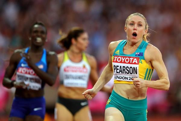 Sally Pearson wins the 100m hurdles at the IAAF World Championships London 2017 (Getty Images)