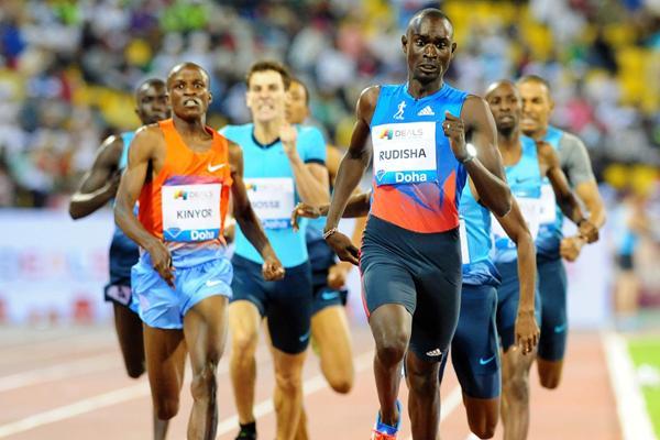 David Rudisha wins the 800m at the 2013 Doha Diamond League (Errol Anderson)