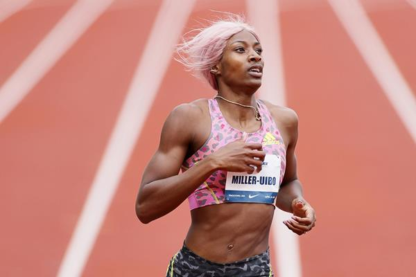 Shaunae Miller-Uibo wins the 400m at the USATF Grand Prix in Eugene (Getty Images)