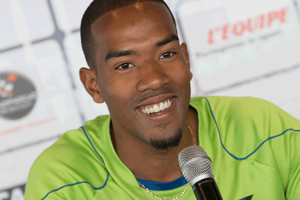Christian Taylor at the Monaco Diamond League press conference (Philippe Fitte)