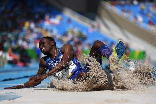 Will Claye in the triple jump at the Rio 2016 Olympic Games (Getty Images)