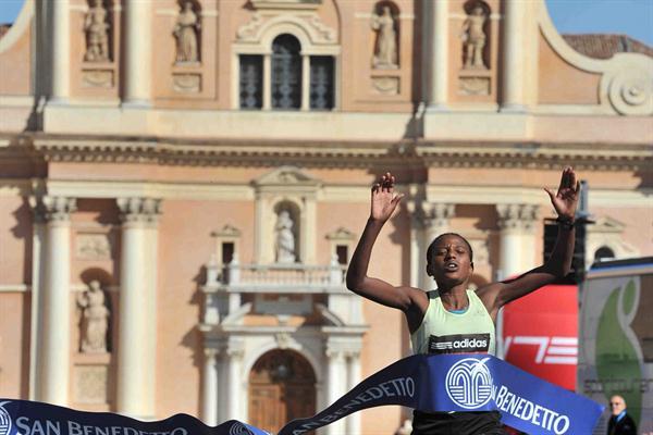 Deribe Gebissa of Ethiopia takes the Maratona d'Italia Memorial Enzo Ferrari in Carpi (Organisers)