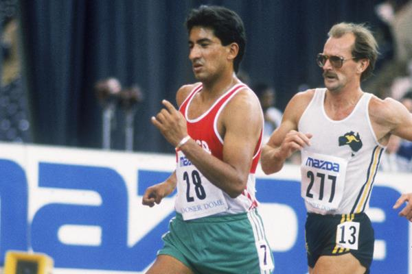 Ernesto Canto in action at the 1987 World Indoor Championships (Getty Images)