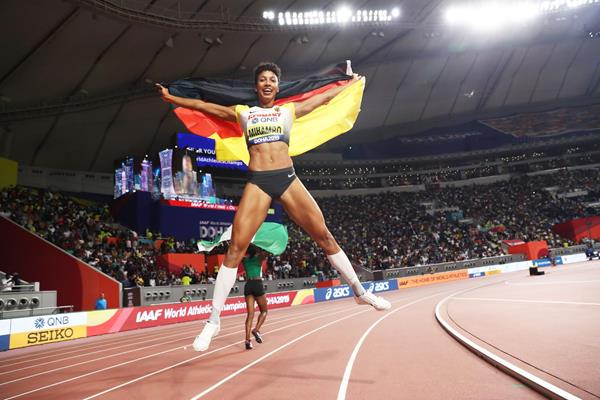 World long jump champion Malaika Mihambo at the IAAF World Championships DOHA 2019 (Getty Images)