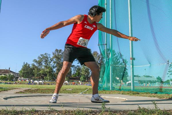 Claudio Romero of Chile at the 2016 South American Youth Championships (Oscar Muñoz Badilla)