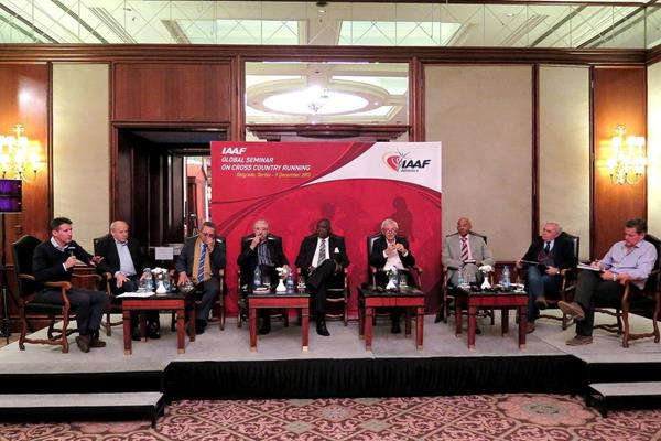 The IAAF Global Seminar on Cross Country Running round table panel, Belgrade 2013 (Sean Wallace-Jones / IAAF)