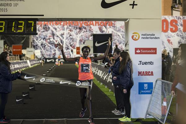 Linet Masai winning at the 2015 San Silvestre Vallecana (organisers)