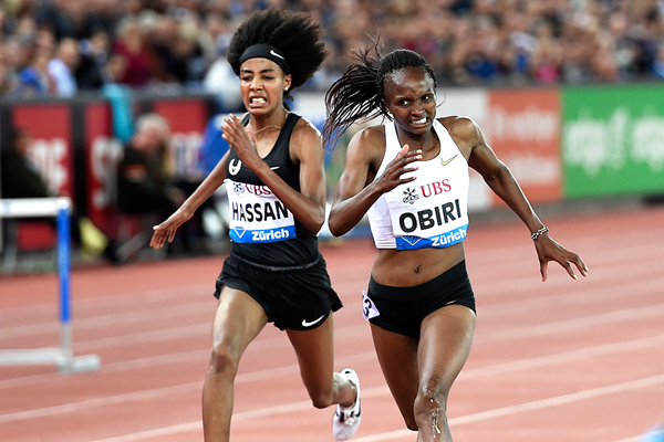Hellen Obiri wins the 5000m at the IAAF Diamond League final in Zurich (Mark Shearman)
