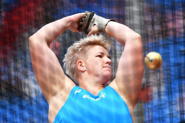 Anita Wlodarczyk in action at the IAAF Continental Cup Ostrava 2018 (Getty Images)