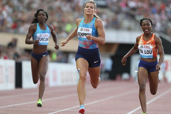 Dafne Schippers takes the Lausanne 200m (Giancarlo Colombo)