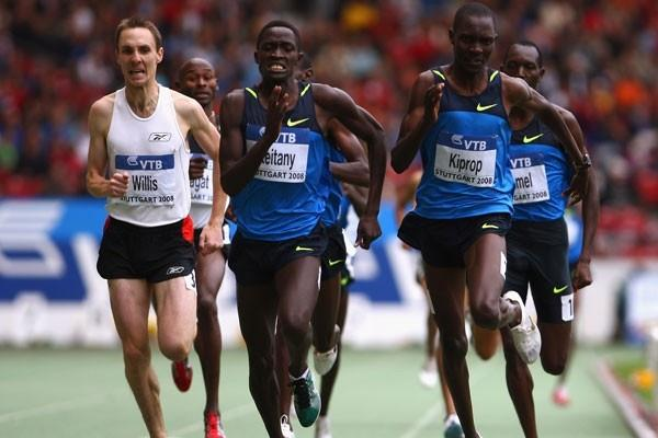 Haron Keitany holds off fellow Kenyan Asbel Kiprop in a tactical 1500m (Getty Images)