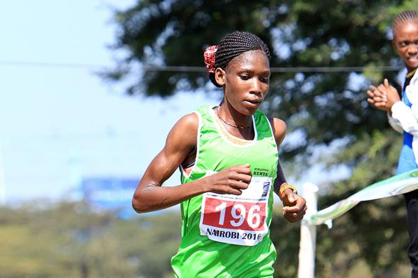 Alice Aprot at the 2016 IAAF Permit/Athletics Kenya National Cross Country meeting  (David Ogeka)