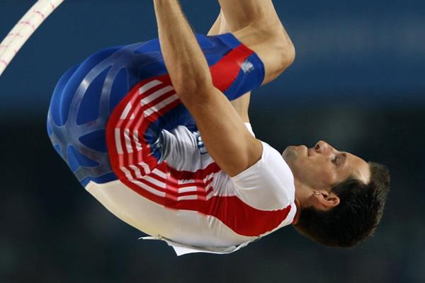 French pole vaulter Renaud Lavillenie at the 2011 World Championships in Daegu (Getty Images)