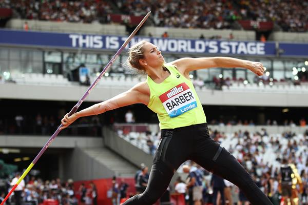 Kelsey-Lee Barber at the IAAF Diamond League meeting in London (Getty Images)