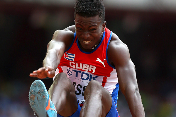 Maykel Masso in the long jump at the IAAF World Championships Beijing 2015 (Getty Images)