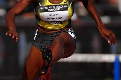 Sheena Johnson at the US championships (Kirby Lee)