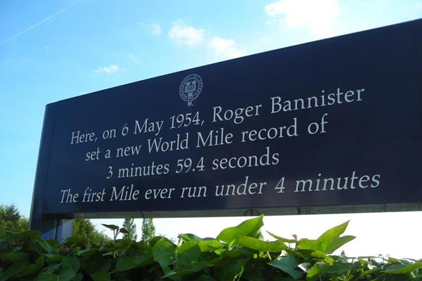 Sign outside Iffley Road Track (Mark Percy)