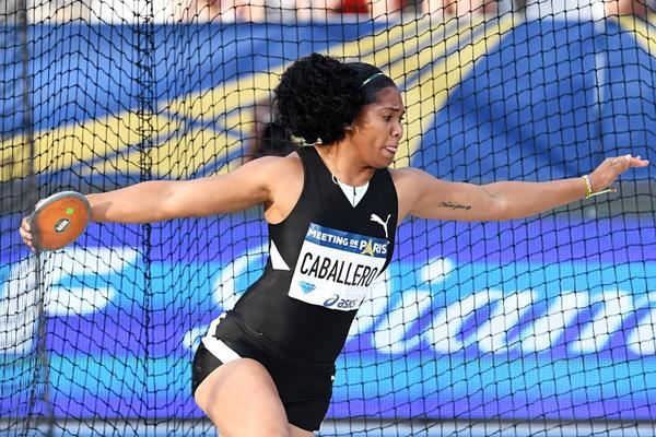 Denia Caballero, winner of the discus at the IAAF Diamond League meeting in Paris (Gladys Chai von der Laage)