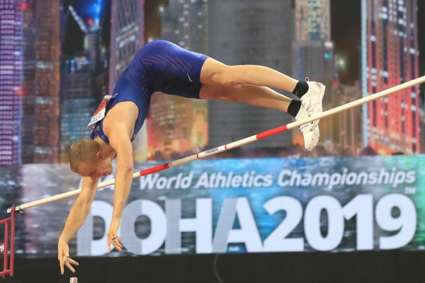 Sam Kendricks vaults to a second world title at the IAAF World Athletics Championships Doha 2019 (Getty Images)