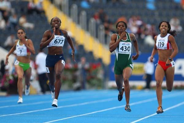 Folashade Abugan of Nigeria on her way to gold in the Women's 400m Final (Getty Images)