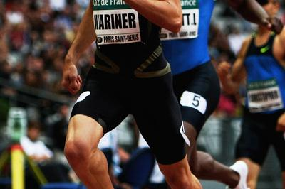 Jeremy Wariner makes it two apiece in the 2008 head-to-head stakes against LaShawn Merritt (Getty Images)