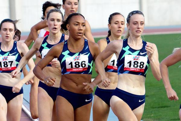 Jemma Reekie (188) in action in the 800m in Trieste (Bob Ramsak)