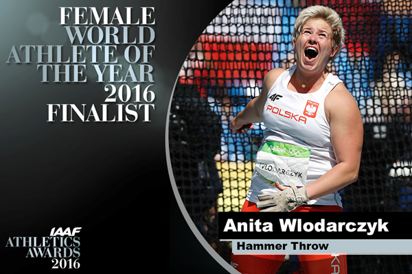 Female World Athlete of the Year Finalist Anita Wlodarczyk ()
