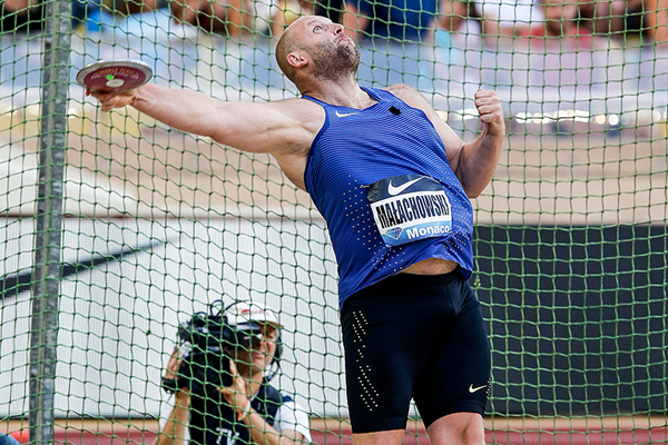 Piotr Malachowski, winner of the discus at the IAAF Diamond League meeting in Monaco (Philippe Fitte)