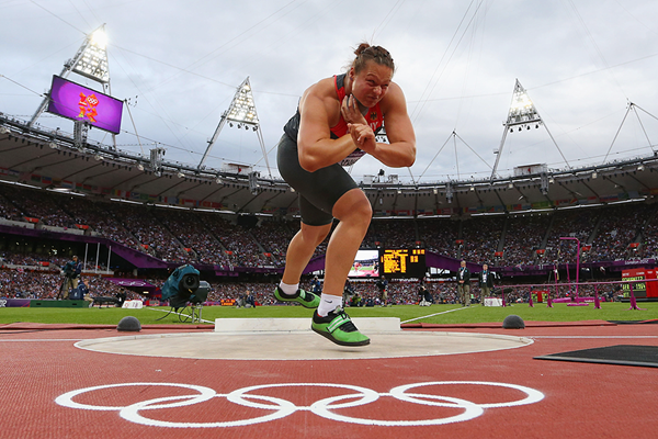 Christina Schwanitz in the shot put at the London 2012 Olympic Games (Getty Images)