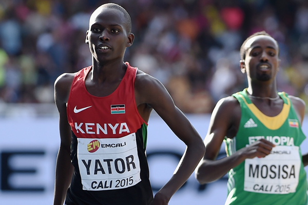 Richard Yator wins the 3000m at the IAAF World Youth Championships Cali 2015 (Getty Images)